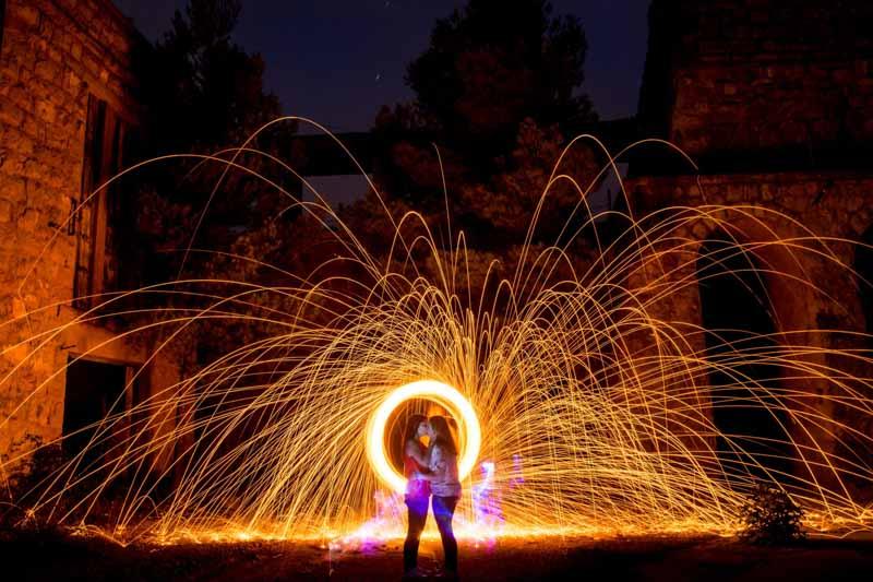 Fotografo boda Avila y Madrid preboda lightpainting Wayak Studio 484